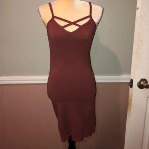 Mauve Pink Tight Summer Dress